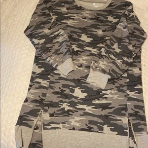 Army Fatigue Sweatshirt Dress